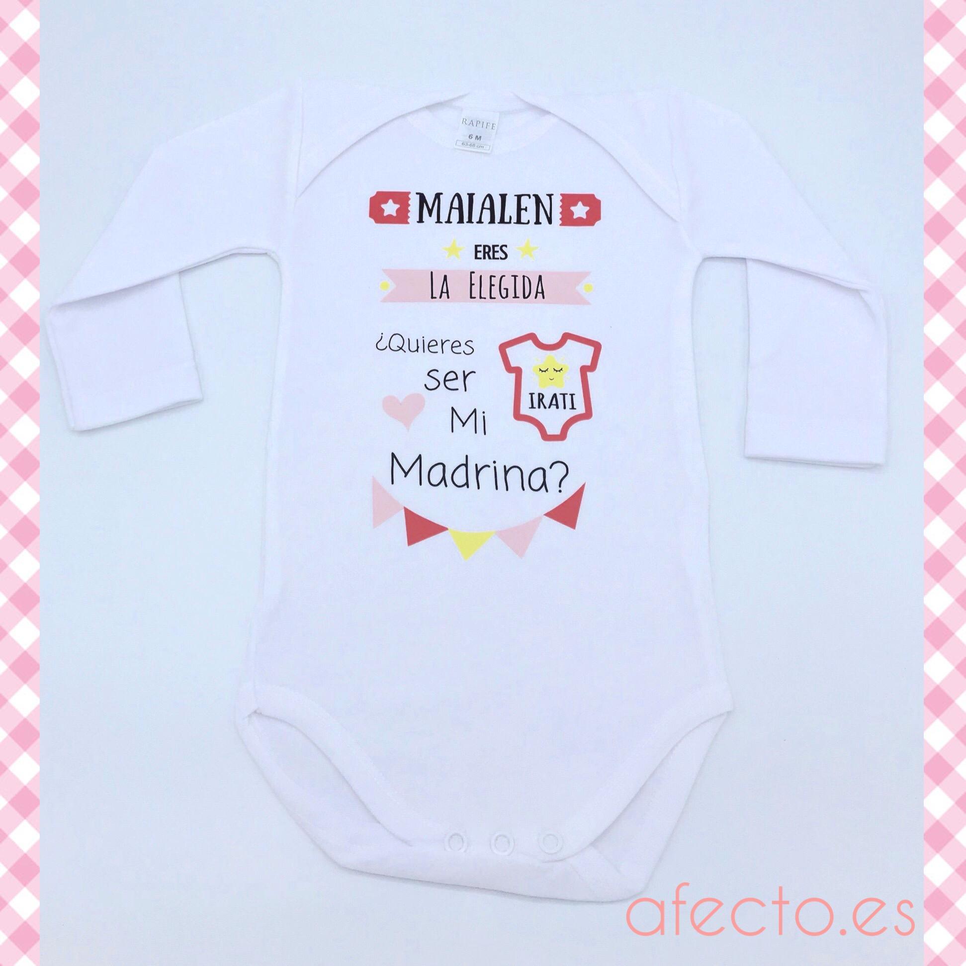 """9b7f97080 Body personalizado """"Quieres ser mi Madrina"""" Rosa"""