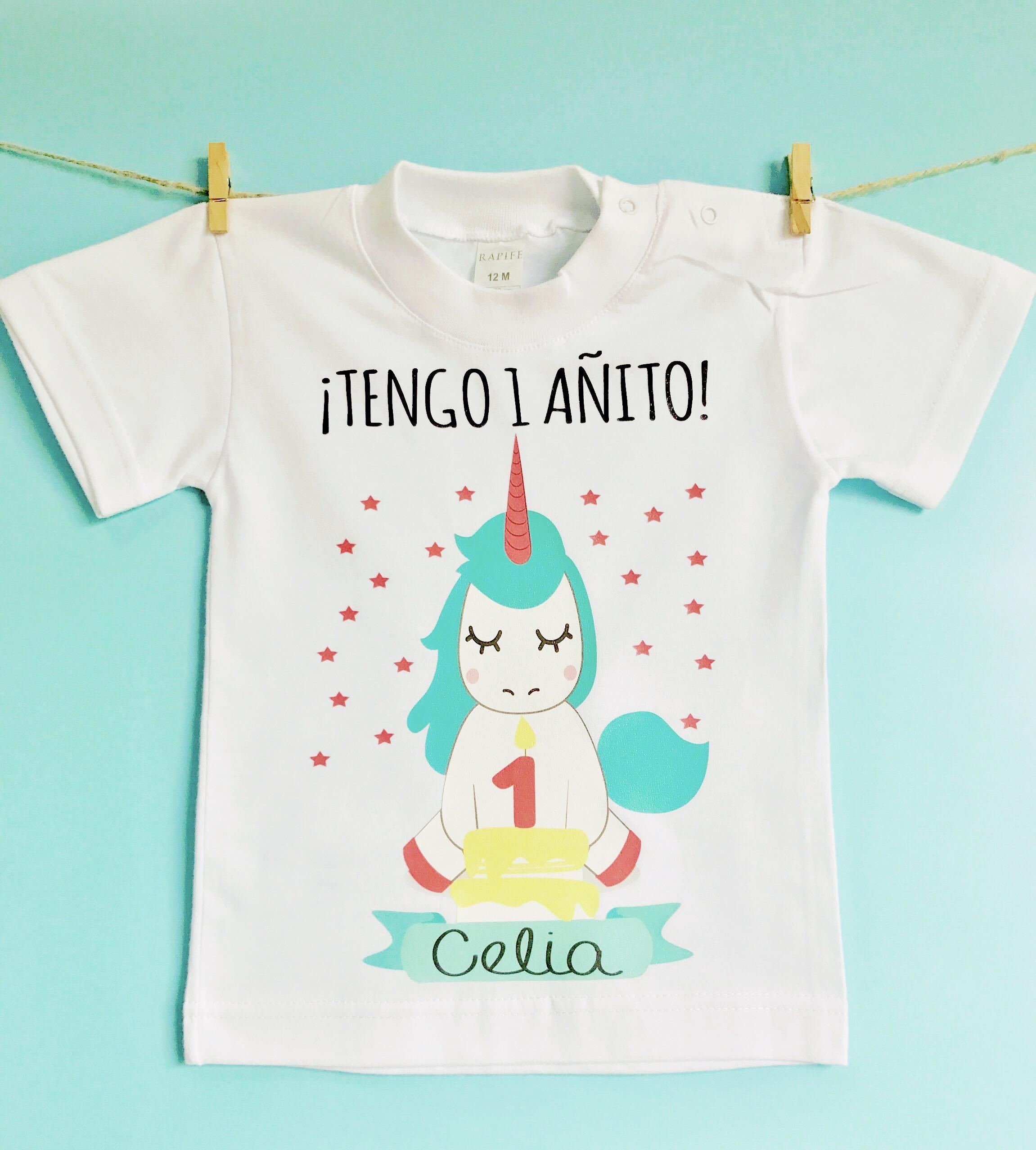 Camiseta Cumpleanos Unicornio Nina