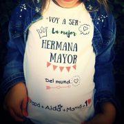 Camiseta personalizada hermana mayor