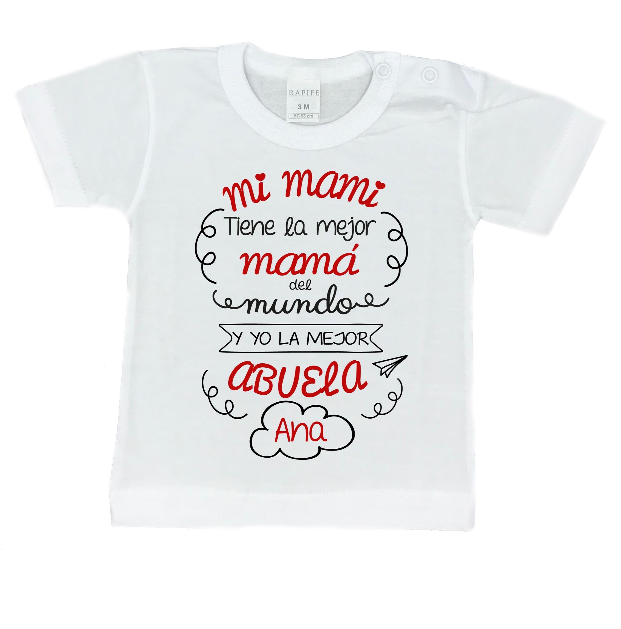 e9ba1c5cb Camiseta Personalizada TENGO LA MEJOR MAMÁ Y ABUELA