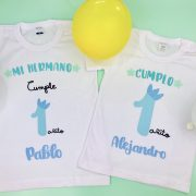 CAMISETAS CUMPLEAÑOS HERMANOS