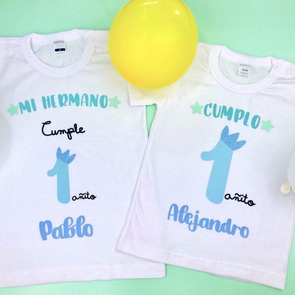 PACK CAMISETAS CUMPLEAÑOS HERMANOS