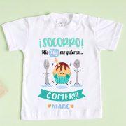 camiseta bebé mis tíos me quieren comer