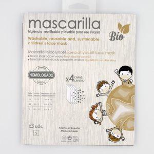 PACK 3 MASCARILLAS INFANTILES LYOCELL REUTILIZABLES
