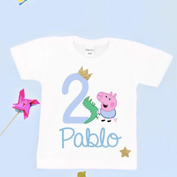 Camiseta Cumpleaños Personalizada George Pig