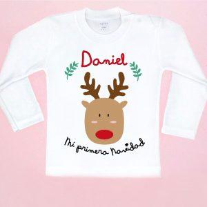 camiseta primera navidad rudolf