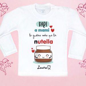 camiseta me gustas más que la nutella