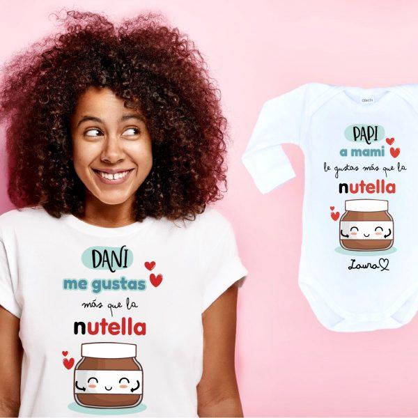 Conjunto Mamá y Bebé Me Gustas más que la Nutella