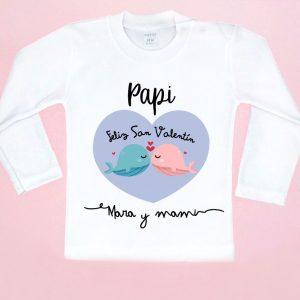 camiseta papi feliz san valentin